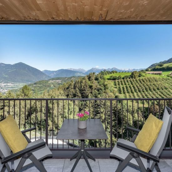 Vista sul balcone Torgglerhof Brixen/Bressanone