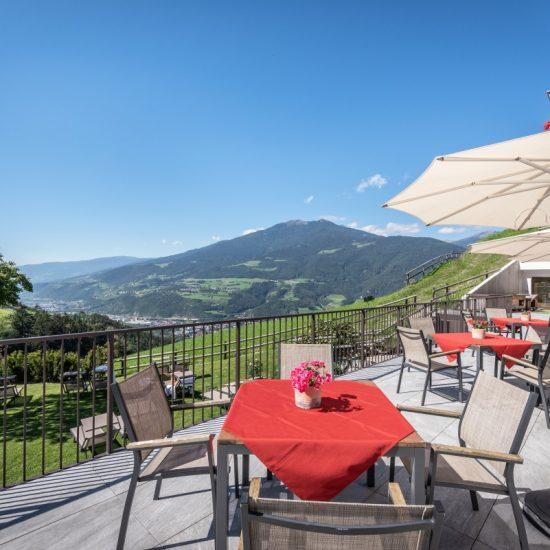 Terrasse Hotel Torgglerhof Brixen