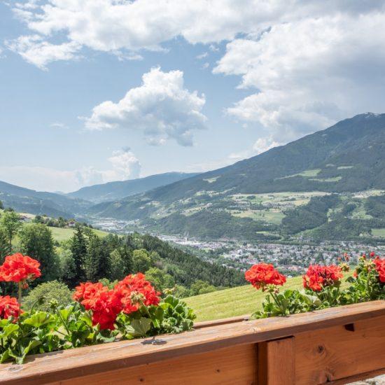 Ausblick Berge Hotel Torgglerhof in Brixen
