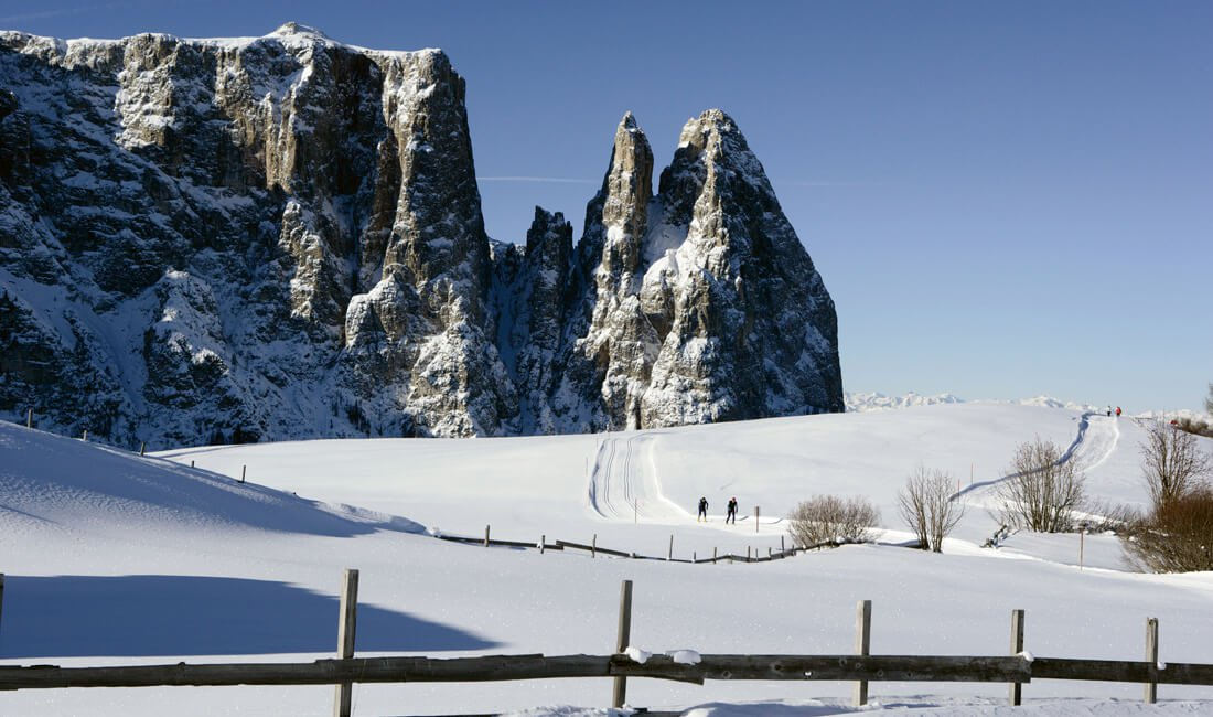 cross country skiing Alpe di Suisi winter sports