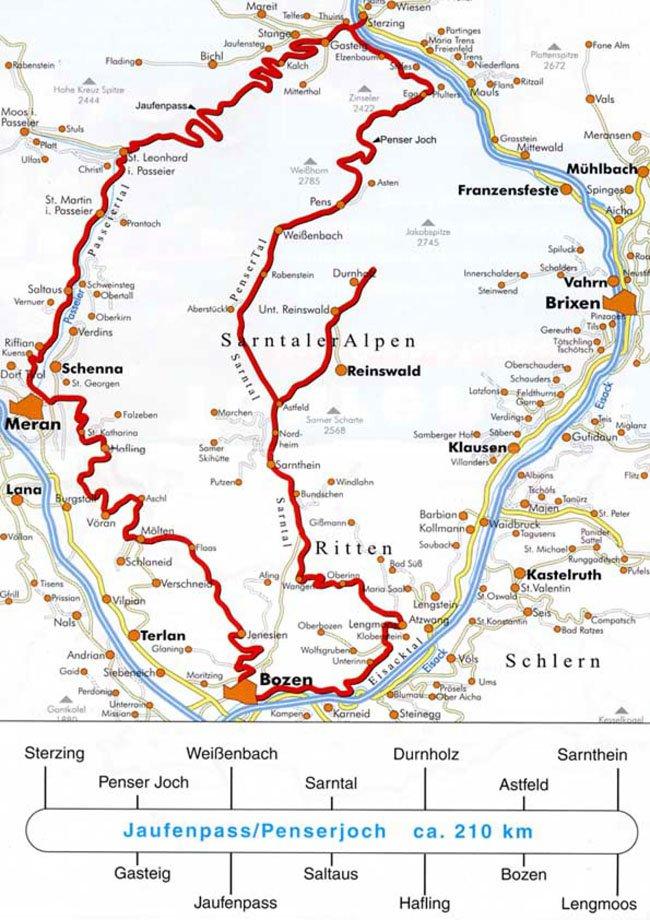 Sul Passo Giovo / Passo di Pennes (ca. 210 km)