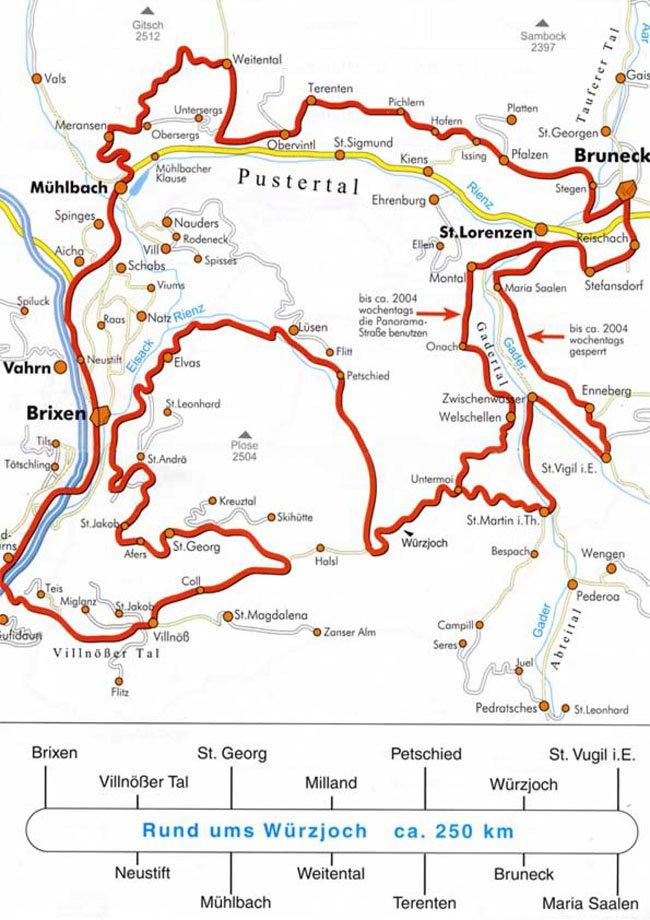 Sul Passo delle Erbe (ca. 250 km)
