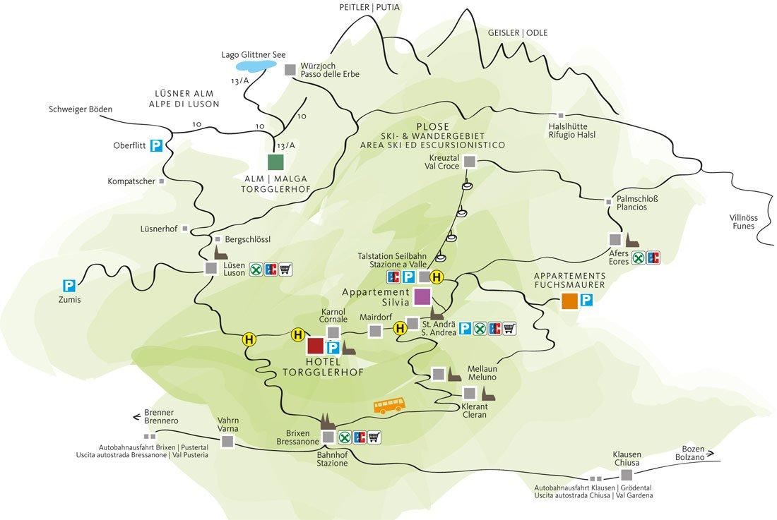 Mappa della Plose