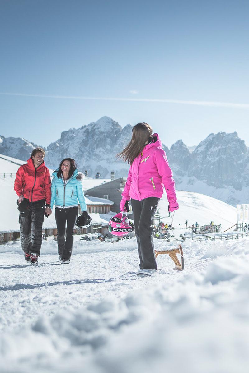 Hotel di sci nelle Dolomiti