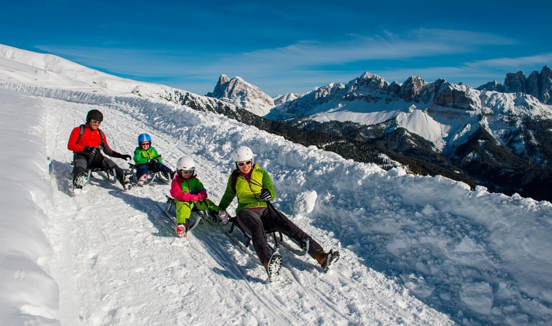 Tobogganing Plose Dolomites
