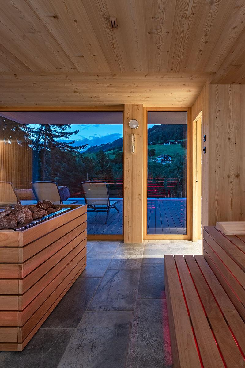 Sauna the ideal vacation regeneration