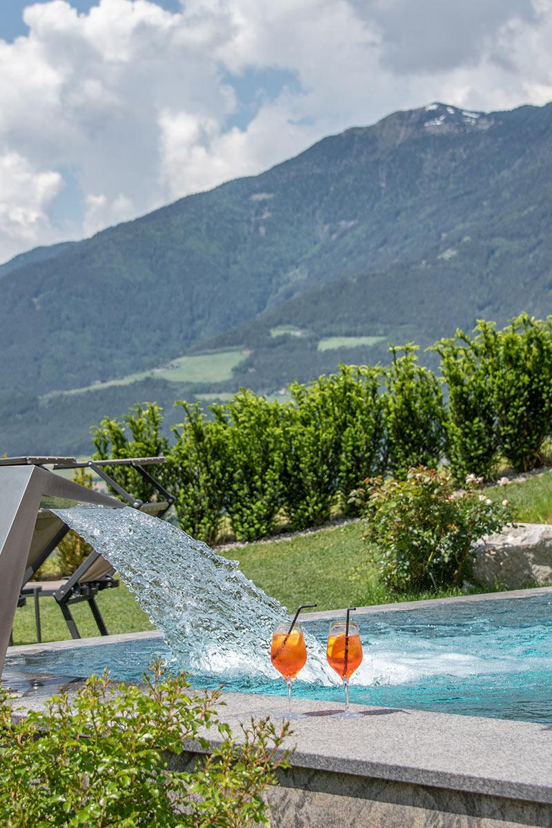 Indoor & outdoor pool at the wellness hotel near Bressanone/Brixen